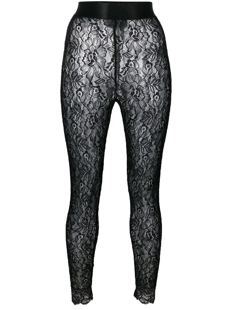 1161f89d1ec66 Lyst - Faith Connexion Lace Footless Tights in Black
