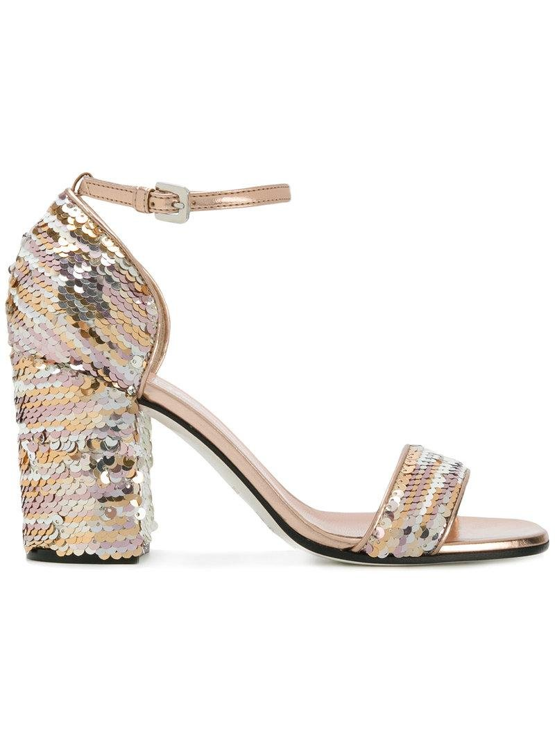 store for sale low shipping for sale Pollini sequined sandals pay with visa cheap online outlet ebay vQgpULf7h