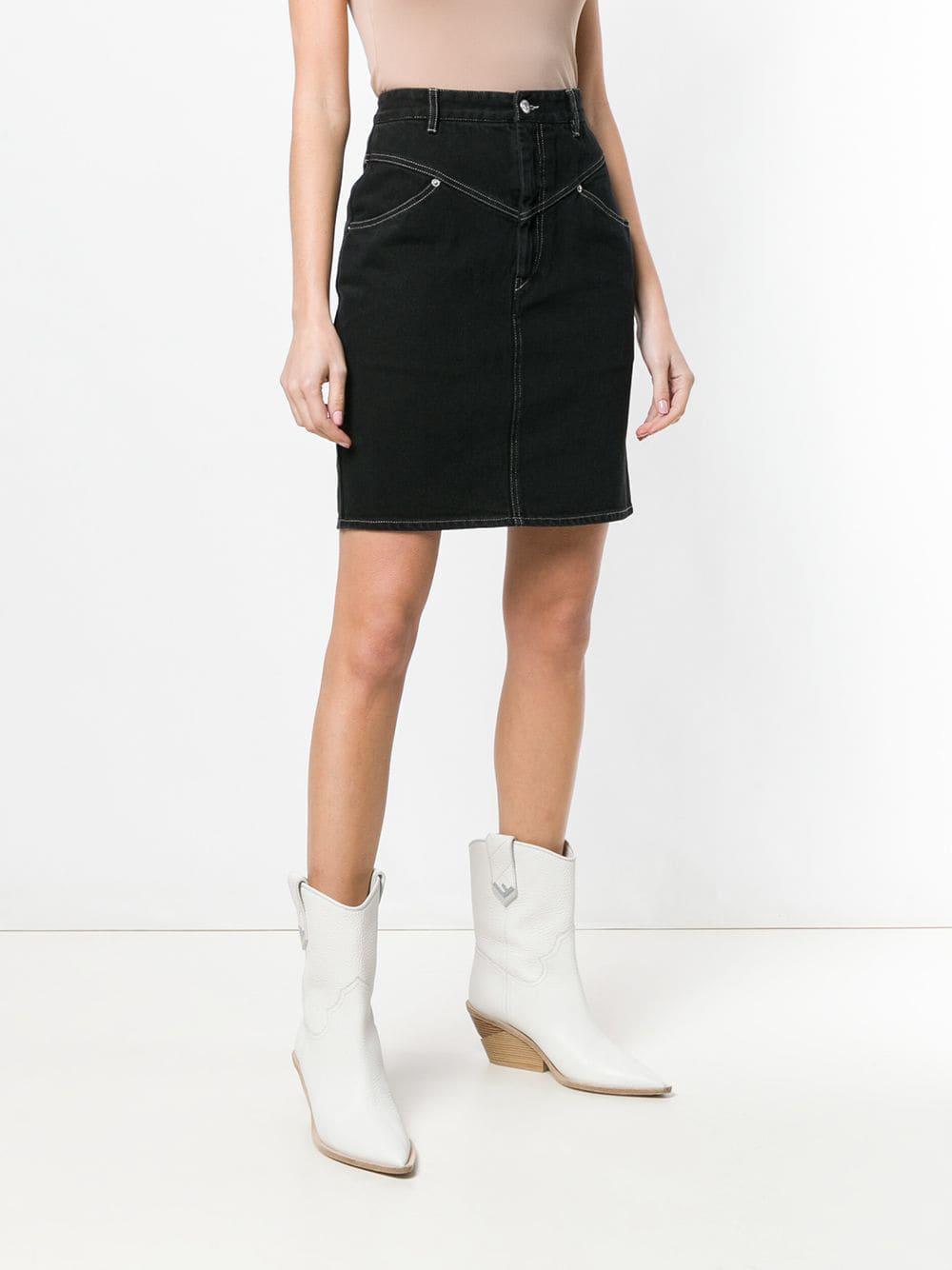 0eb610794 Isabel Marant Lorine Skirt in Black - Save 35% - Lyst