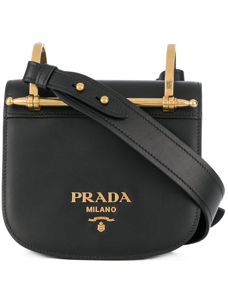 f9538af4e50a Prada - Black Pionniere Cross-body Bag - Lyst. View fullscreen