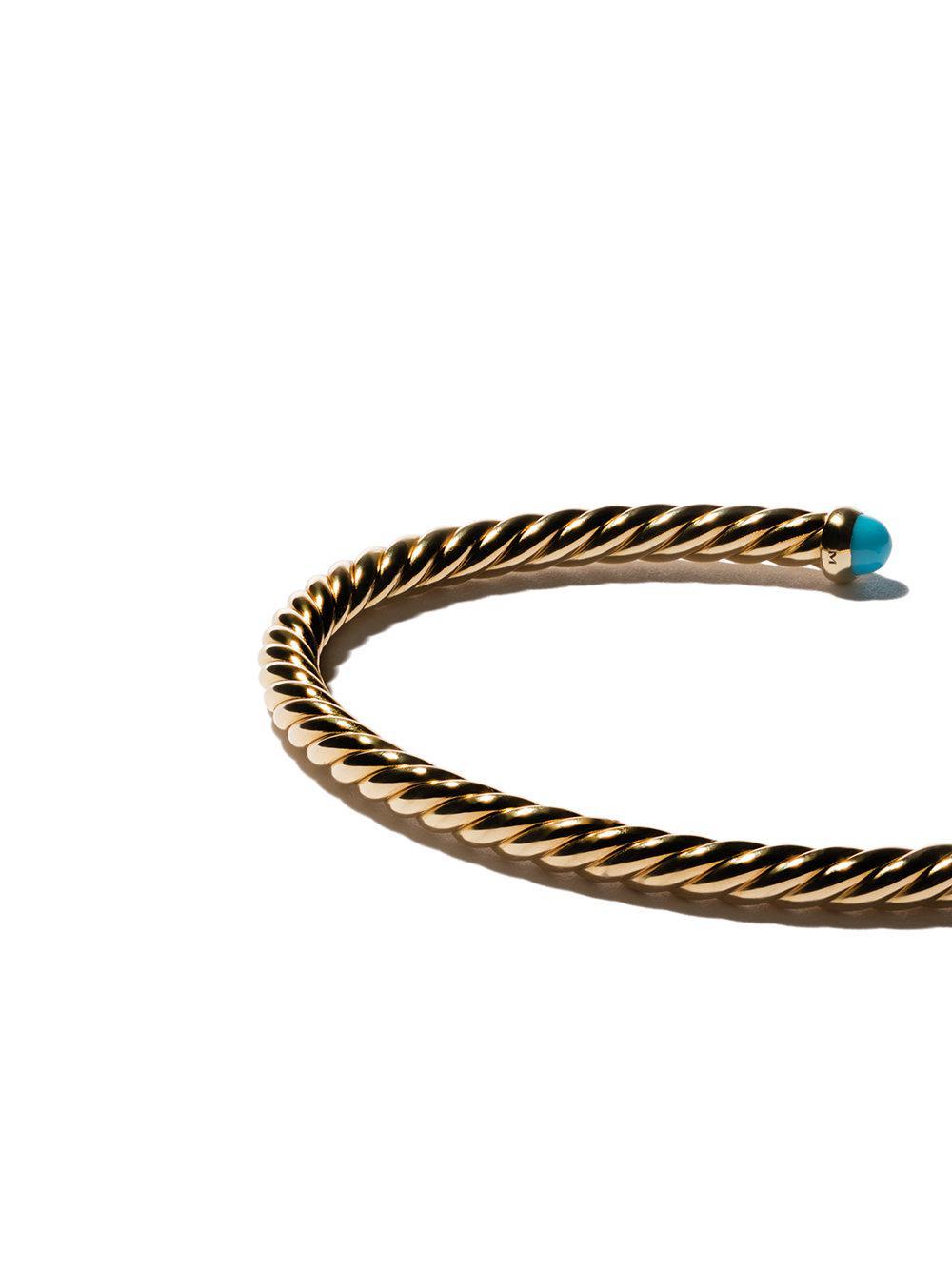 18kt yellow gold Cable Spira cuff bracelet - Metallic David Yurman AUiytbtk