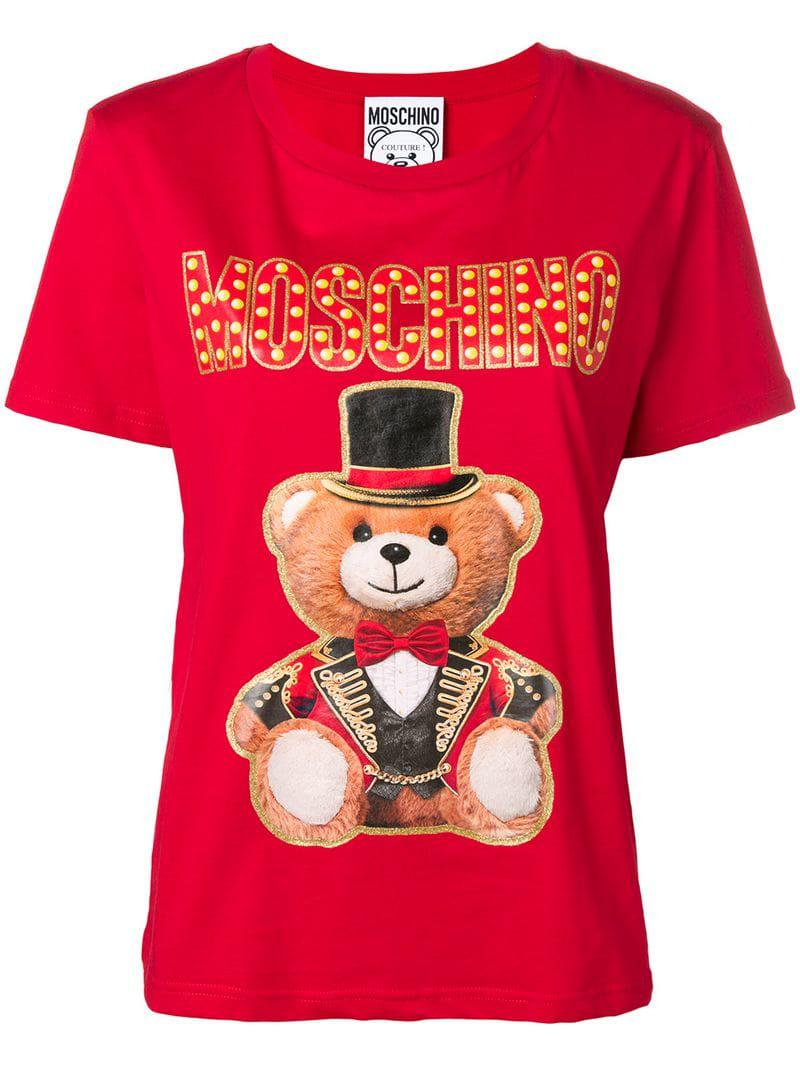 94ab518b Moschino Teddy Circus T-shirt in Red - Save 1% - Lyst