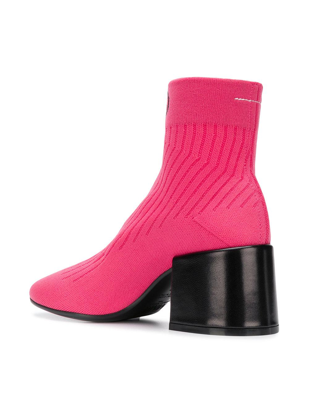 Newest Low Price Cheap Price logo sock boots - Pink & Purple Maison Martin Margiela z3JrSz