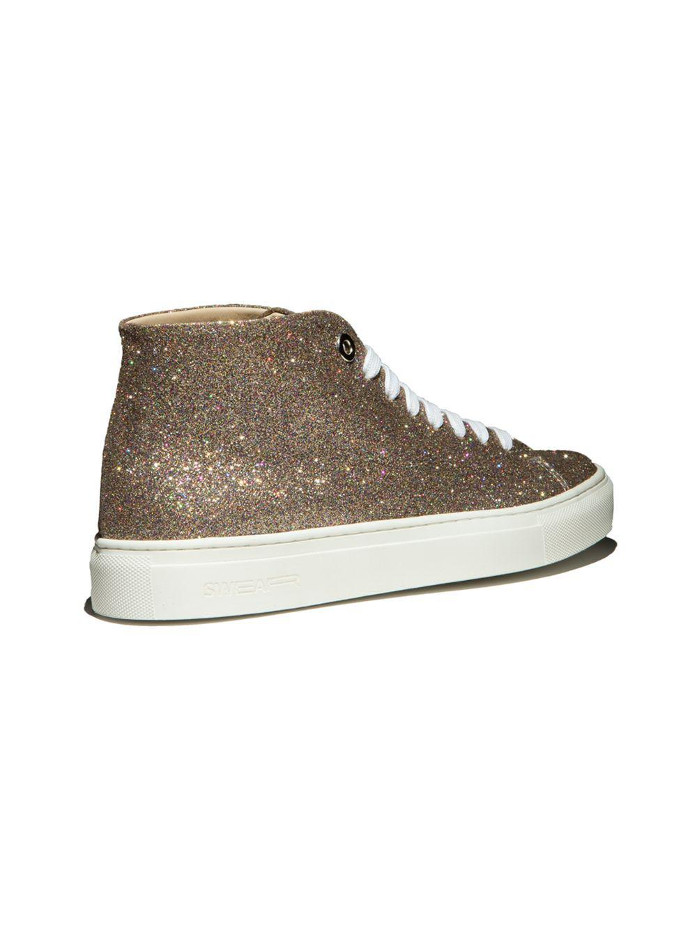 Fast Track Customisation Top Swear Hi Vyner In Sneakers Metallic Lyst HwnTIxZqn