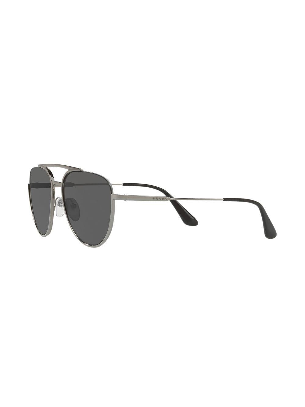 473187bf875 Prada Aviator Shaped Sunglasses in Gray for Men - Save 0.7692307692307736%  - Lyst