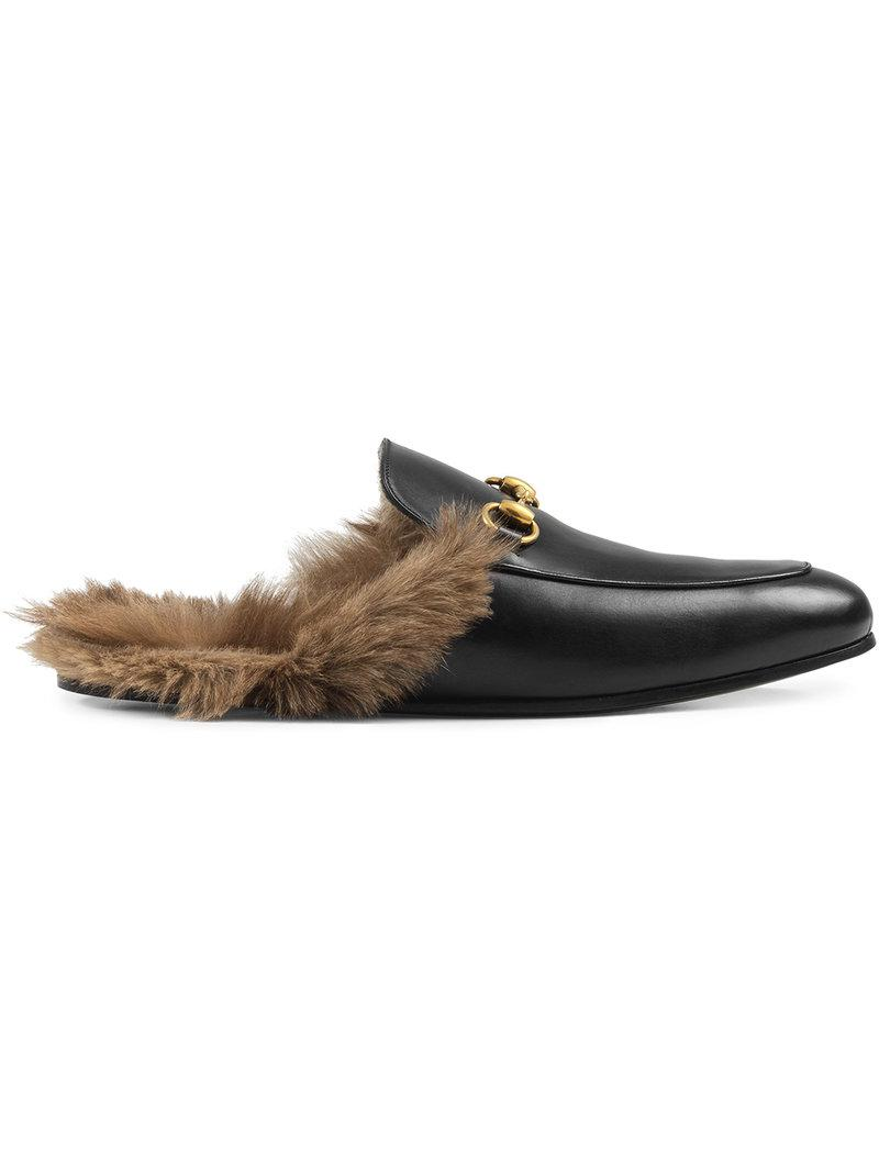 dbe26d480d4 Gucci Princetown Leather Mules in Black for Men - Lyst
