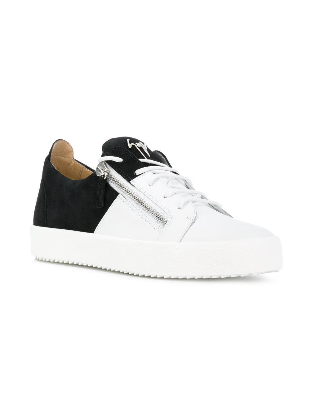 e7608341670 Lyst - Giuseppe Zanotti Bicolour May London Sneakers in White for Men -  Save 26%