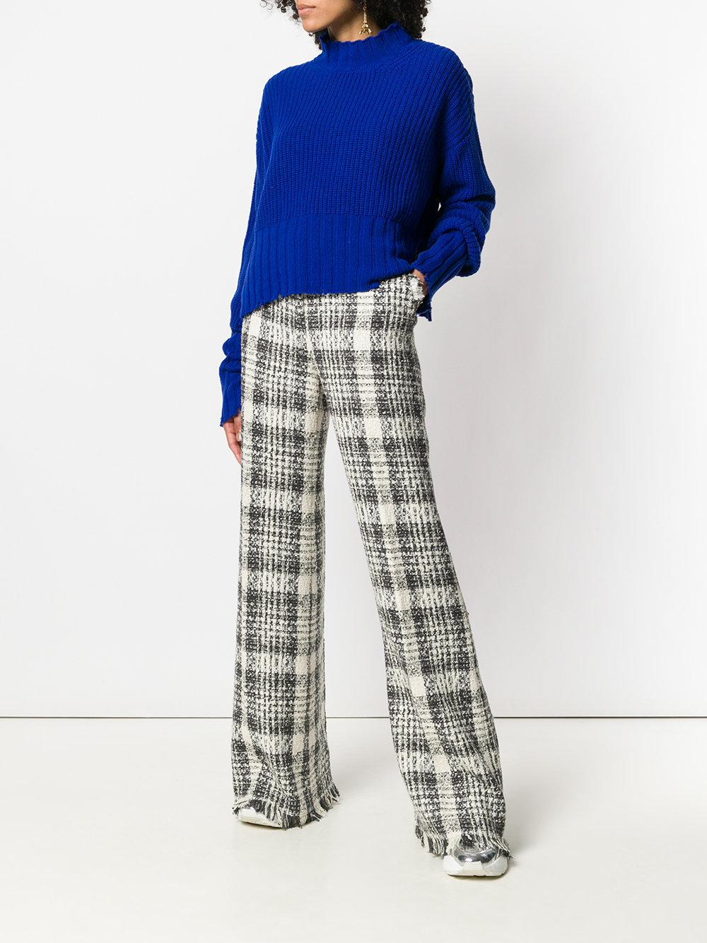 MSGM check palazzo pants Discounts Amazing Price Sale Online Cheap Sale Many Kinds Of New Online 3FxXTsX