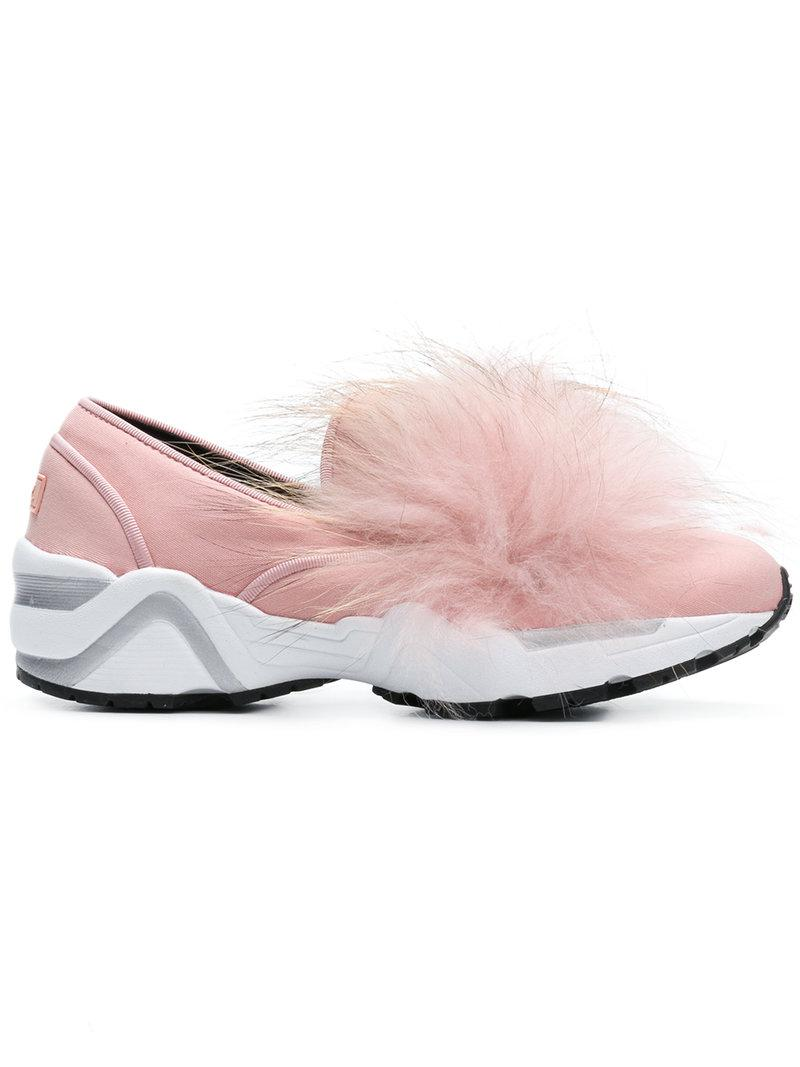 Suecomma Bonnie fur detail sneakers shopping online with mastercard VNzXc9bPW