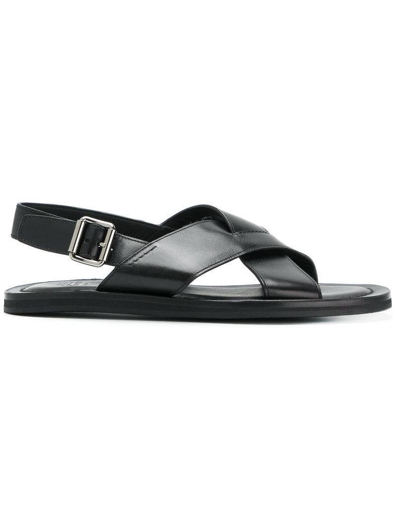 b04374dedff057 Lyst - Church s Crossover Strap Sandals in Black for Men