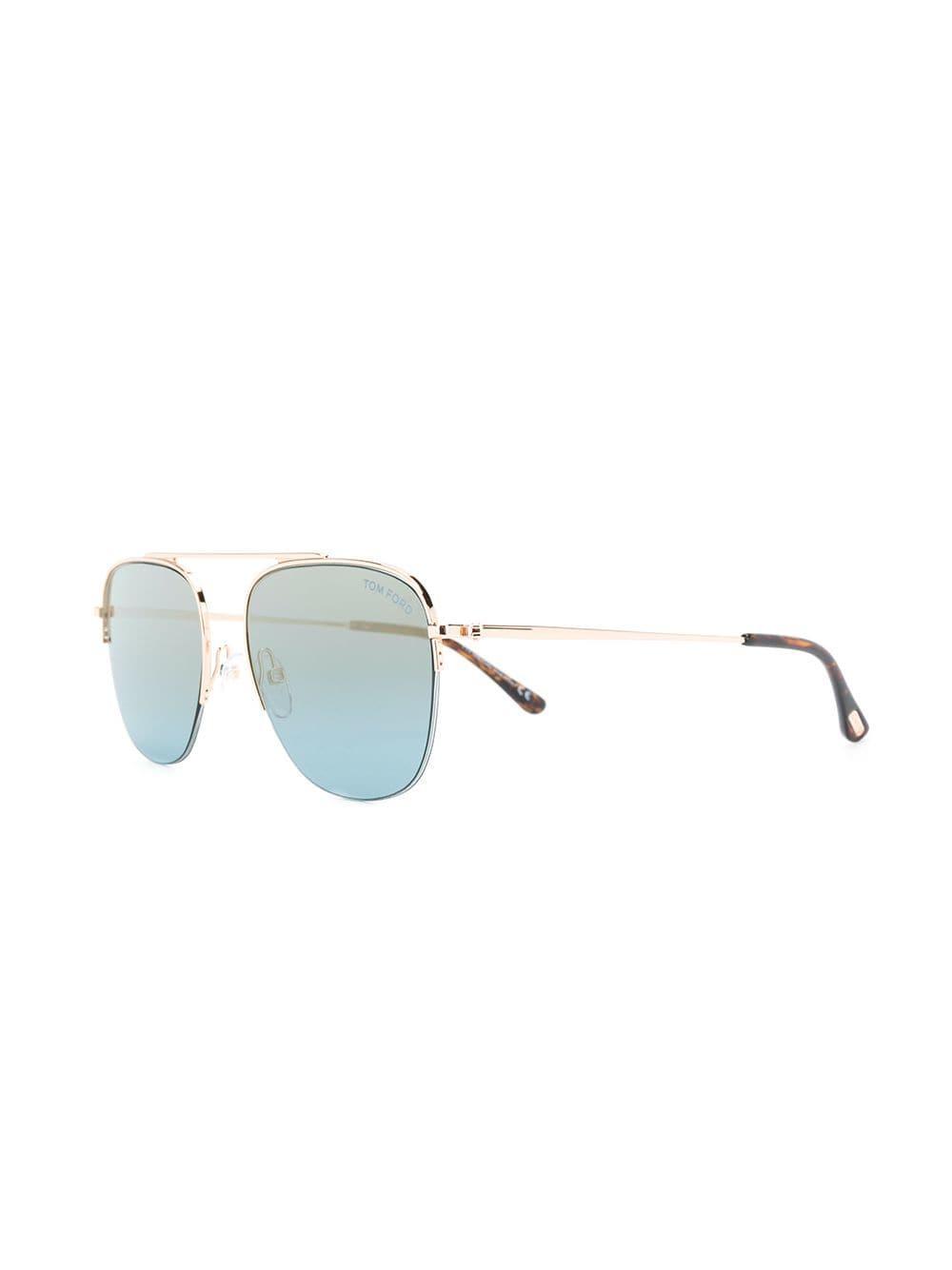 d0a7c098fd8 Tom Ford Abott Sunglasses in Blue for Men - Lyst