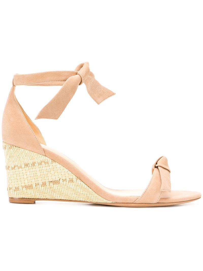 ALEXANDRE BIRMAN Bow strap wedge sandals RyzvK6sC