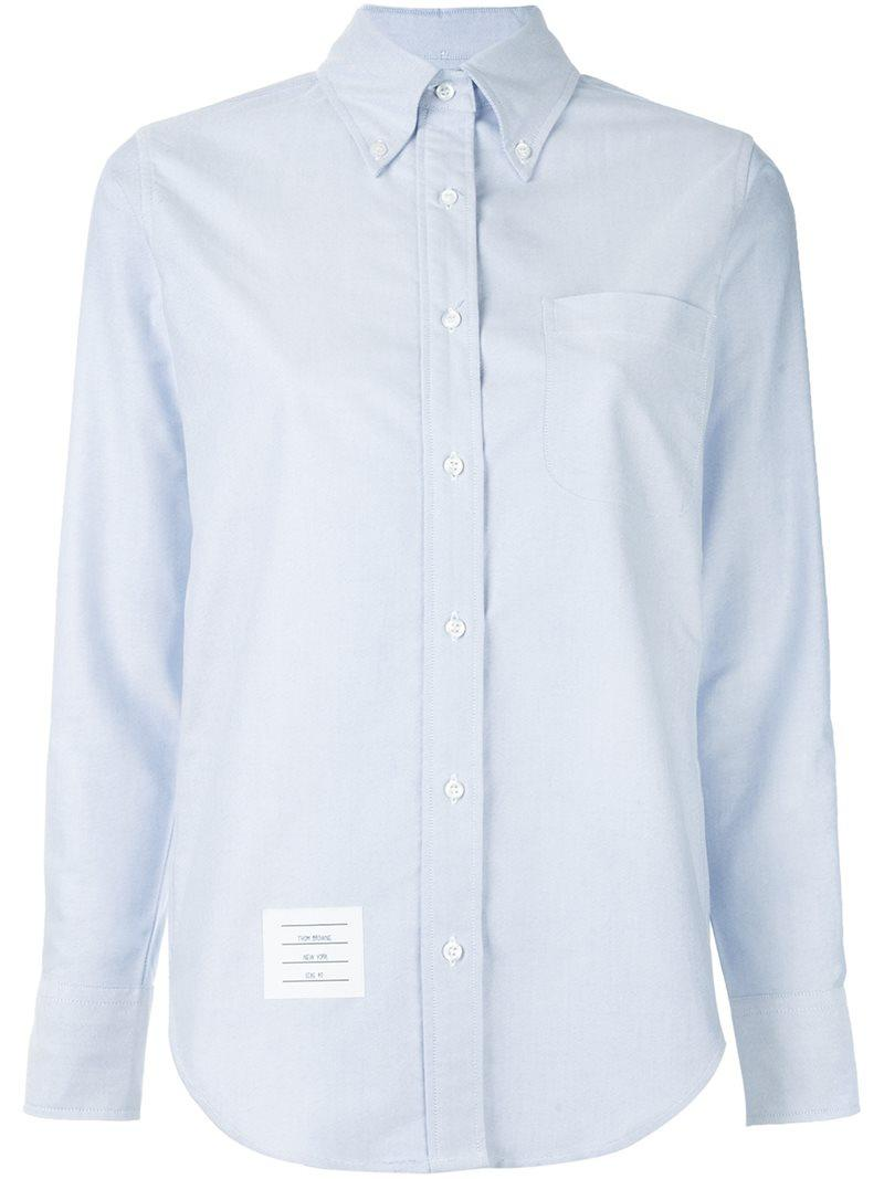 Lyst thom browne oxford shirt women cotton 42 in for Thom browne shirt sale
