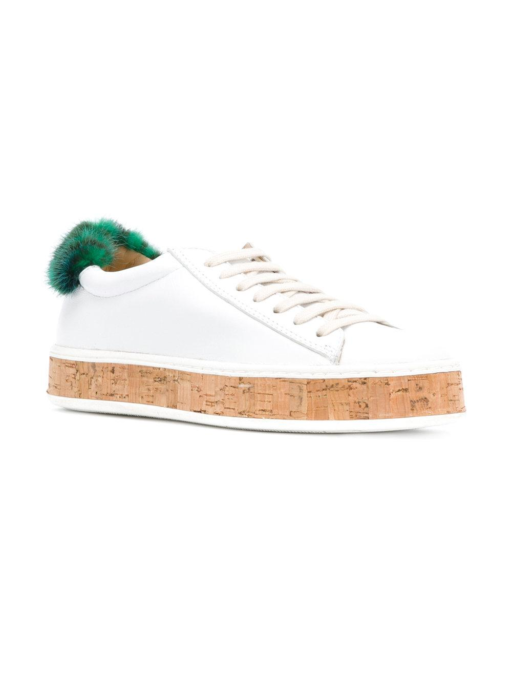 fur patch sneakers - White Mr & Mrs Italy WvccGerS