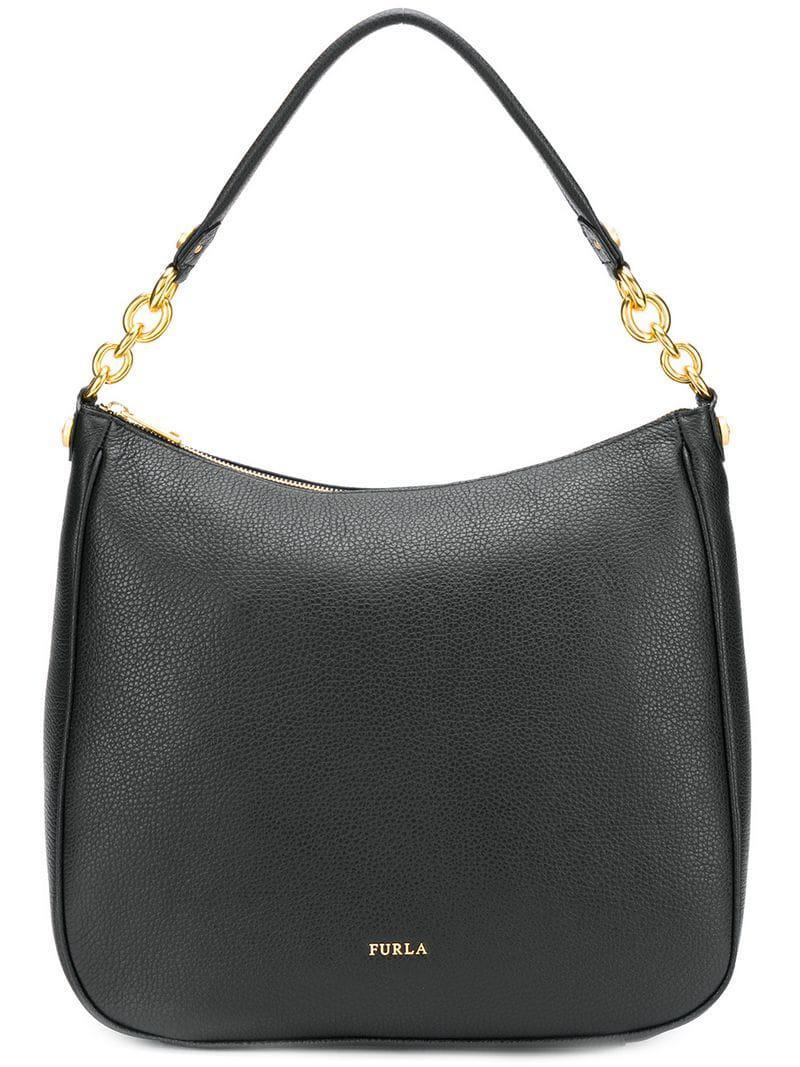 eb8dc557ca7b Furla - Black Classic Shoulder Bag - Lyst. View fullscreen
