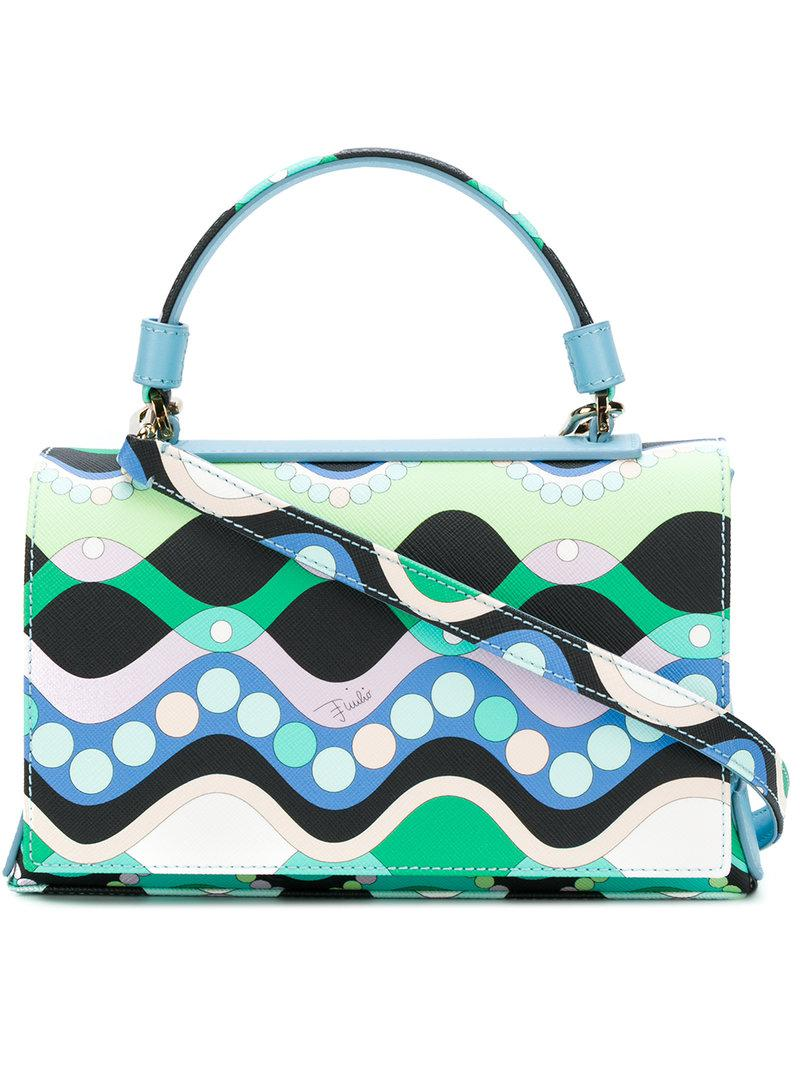 geometric print flap tote - Multicolour Emilio Pucci fGNIJsLSg