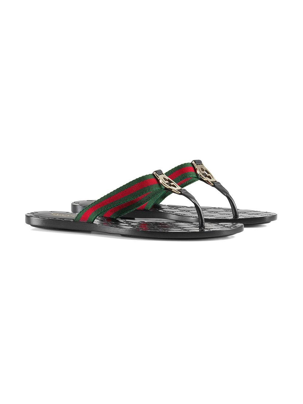 5cdc2abf83ea Lyst - Gucci GG Thong Web Sandal in Black