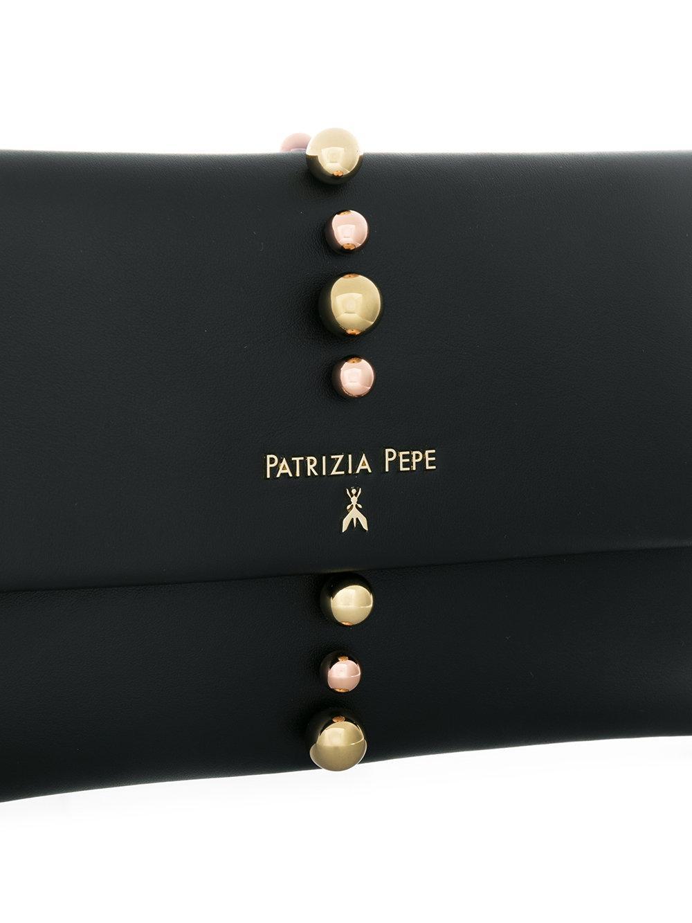 b400cfa298 Patrizia Pepe Studded Clutch Bag in Black - Lyst