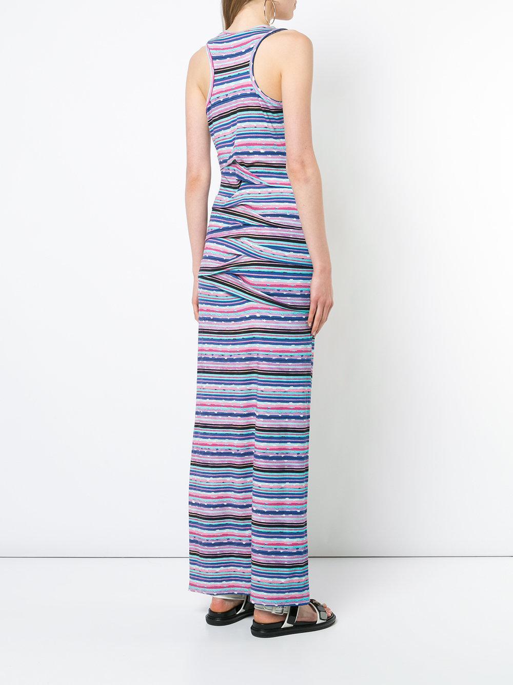 fitted silhouette stripped design dress - Pink & Purple Nicole Miller New Cheap Price mxsiQ1G
