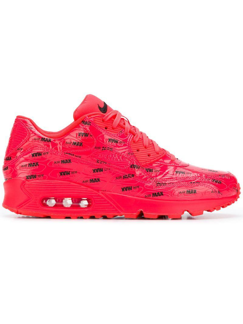 58f21191 ... low cost nike. mens pink air max 90 premium sneakers e2686 51720