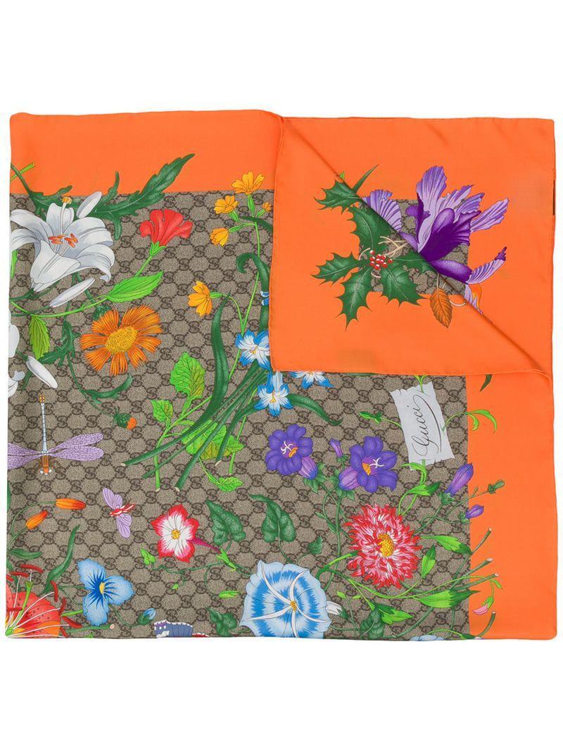 1e6e372e4ca Gucci. Women s GG Flora Print Scarf