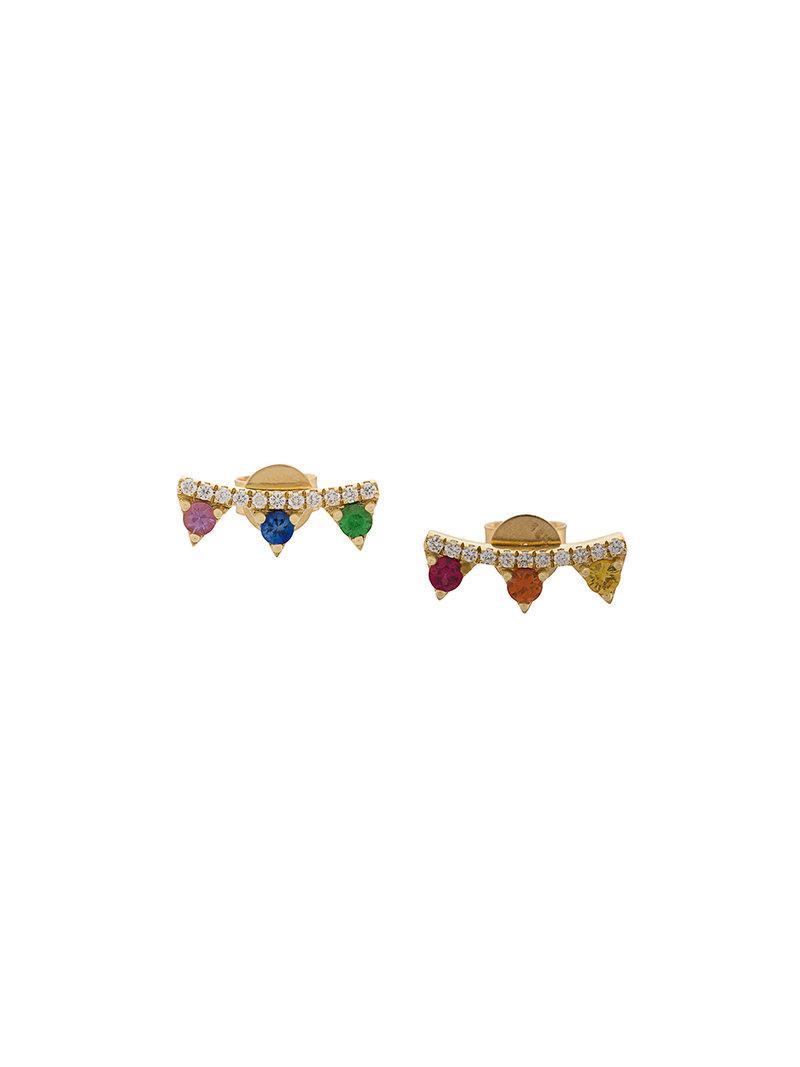 Khai Khai Rainbow Prism Sphere Earrings K5gSLLD