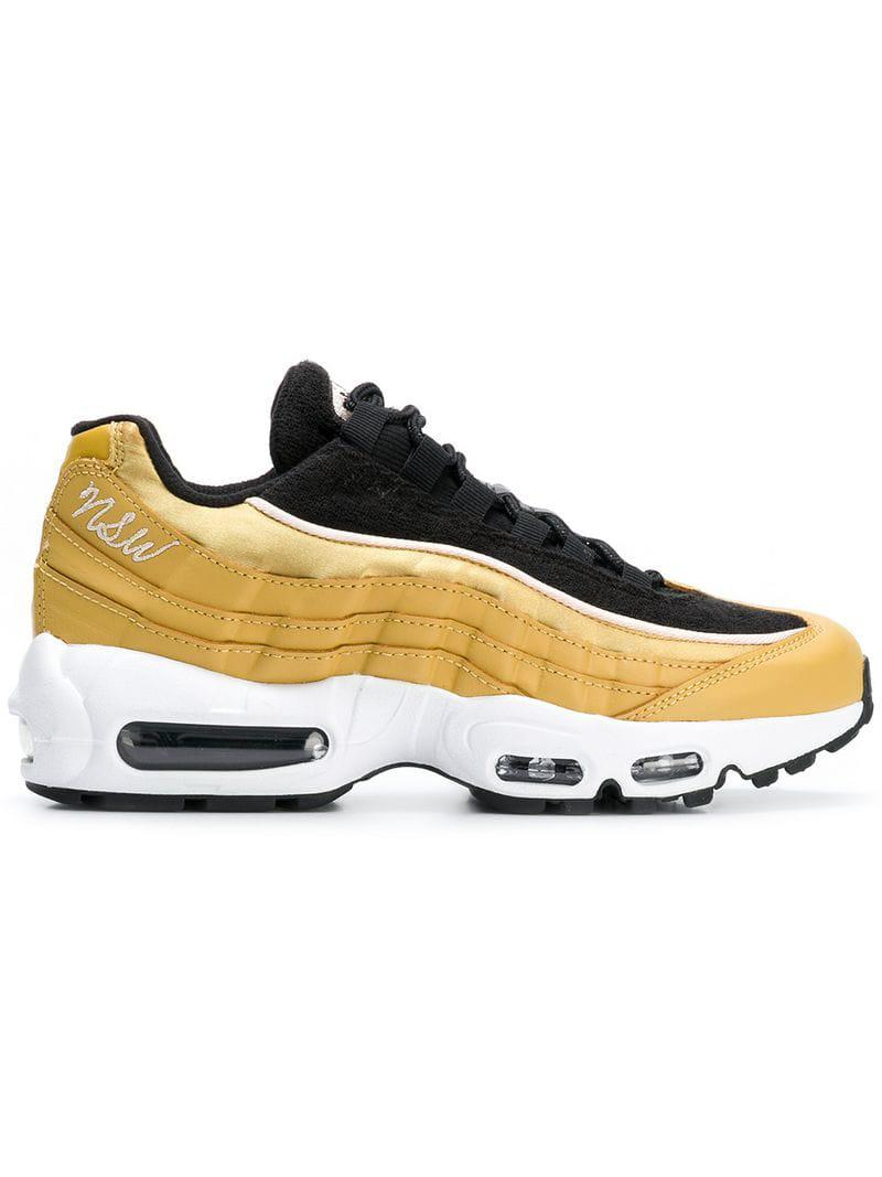 3d852fc7e7125d Lyst - Nike Metallic Air Max Sneakers in Yellow