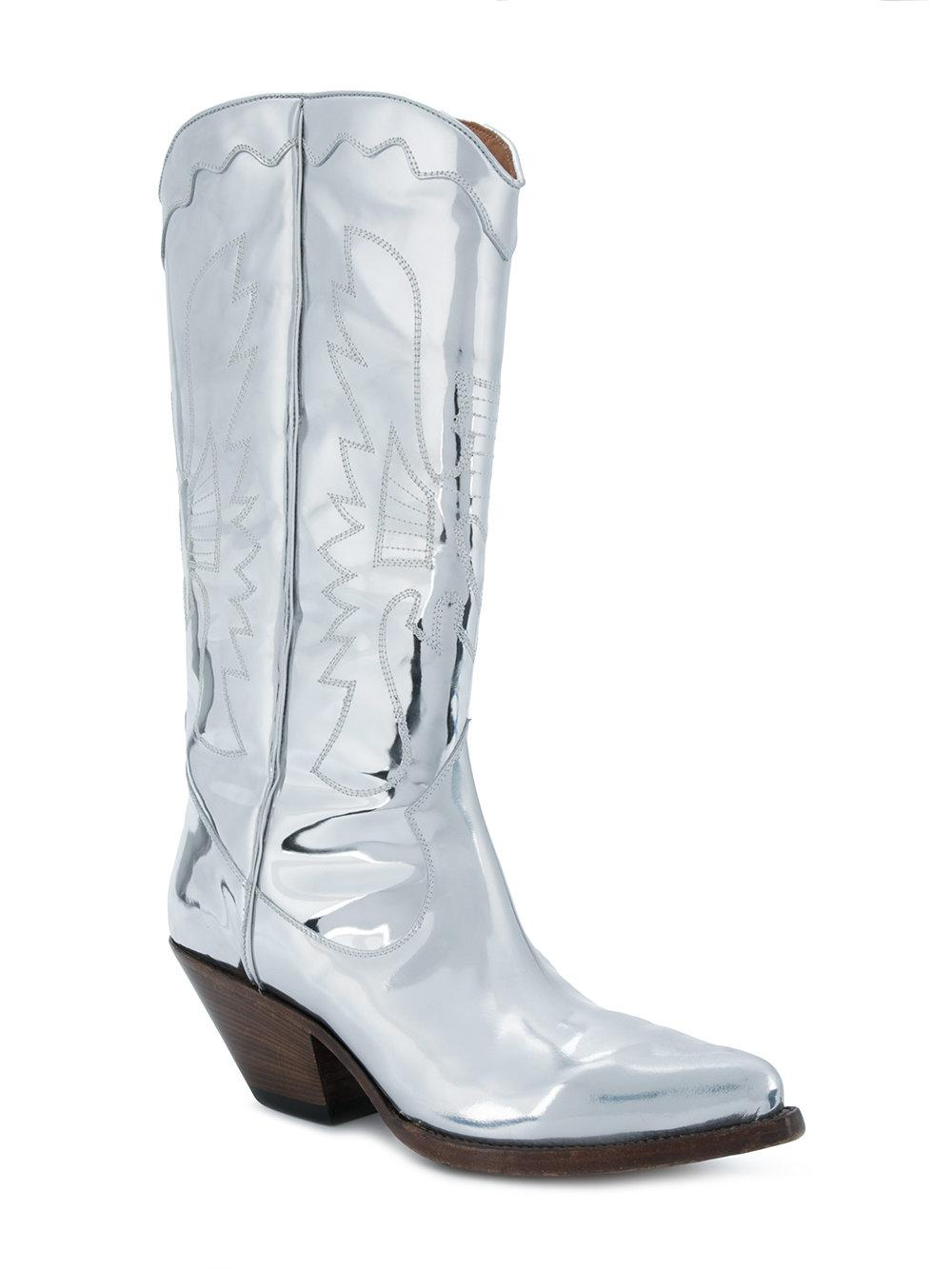 Buttero Elise mirrored western boots