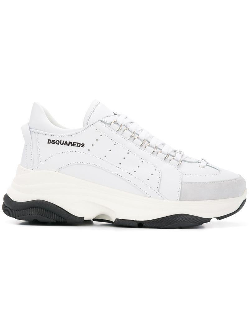 452ea1ac91a Lyst - DSquared² Bumpy 551 Sneakers in White for Men