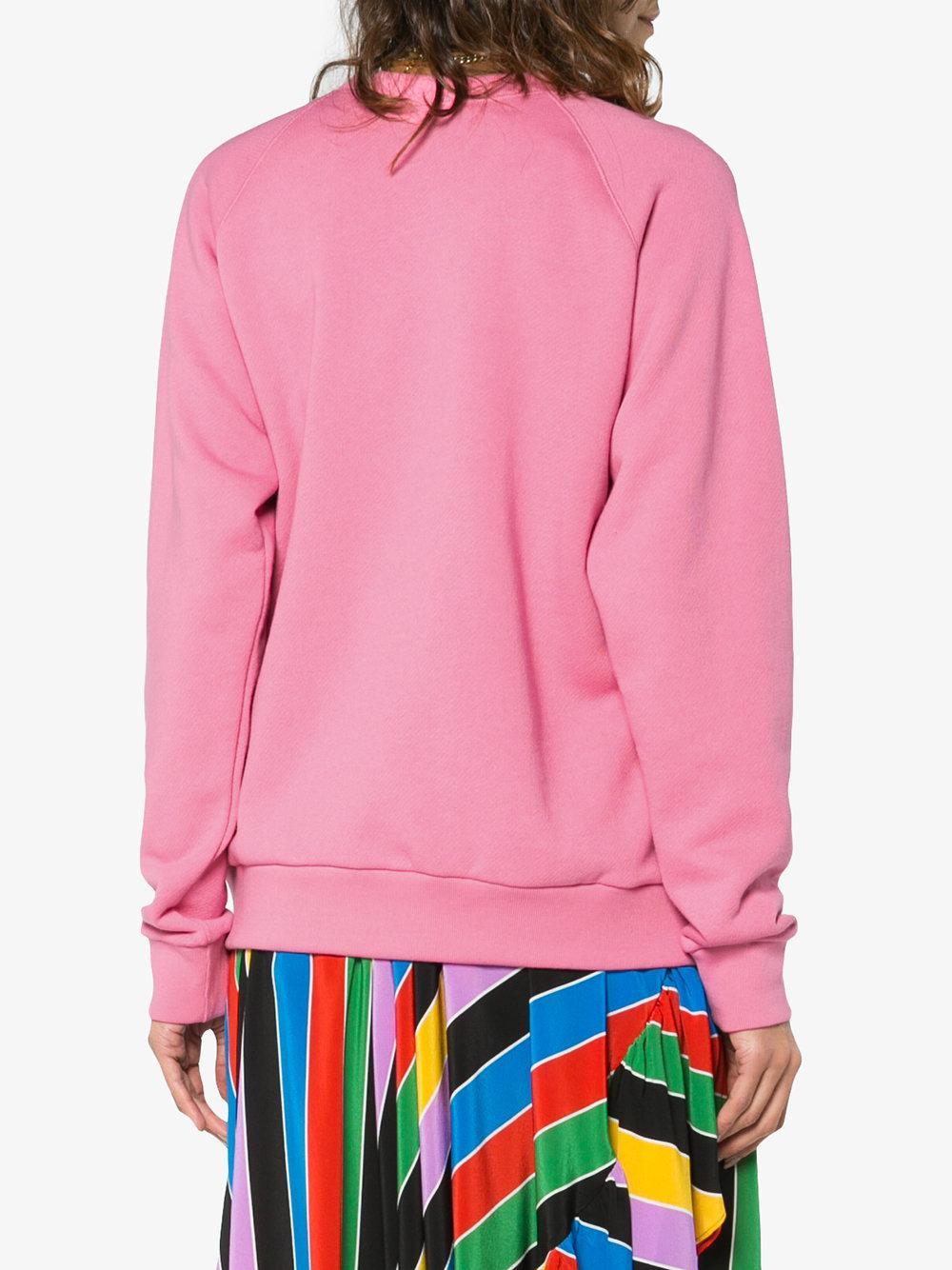 Gucci Cat Sweatshirt in Pink - Lyst