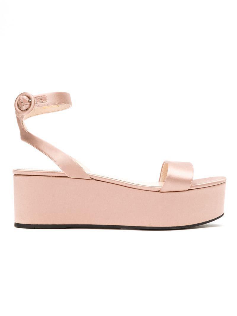 Lyst - Prada Open Toe Platform Sandals in Pink fcd4e2e0be