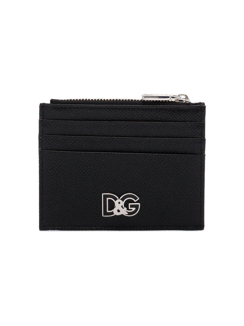 d6e441ba67 Lyst - Dolce & Gabbana Metal Logo Cardholder in Black for Men - Save 60%
