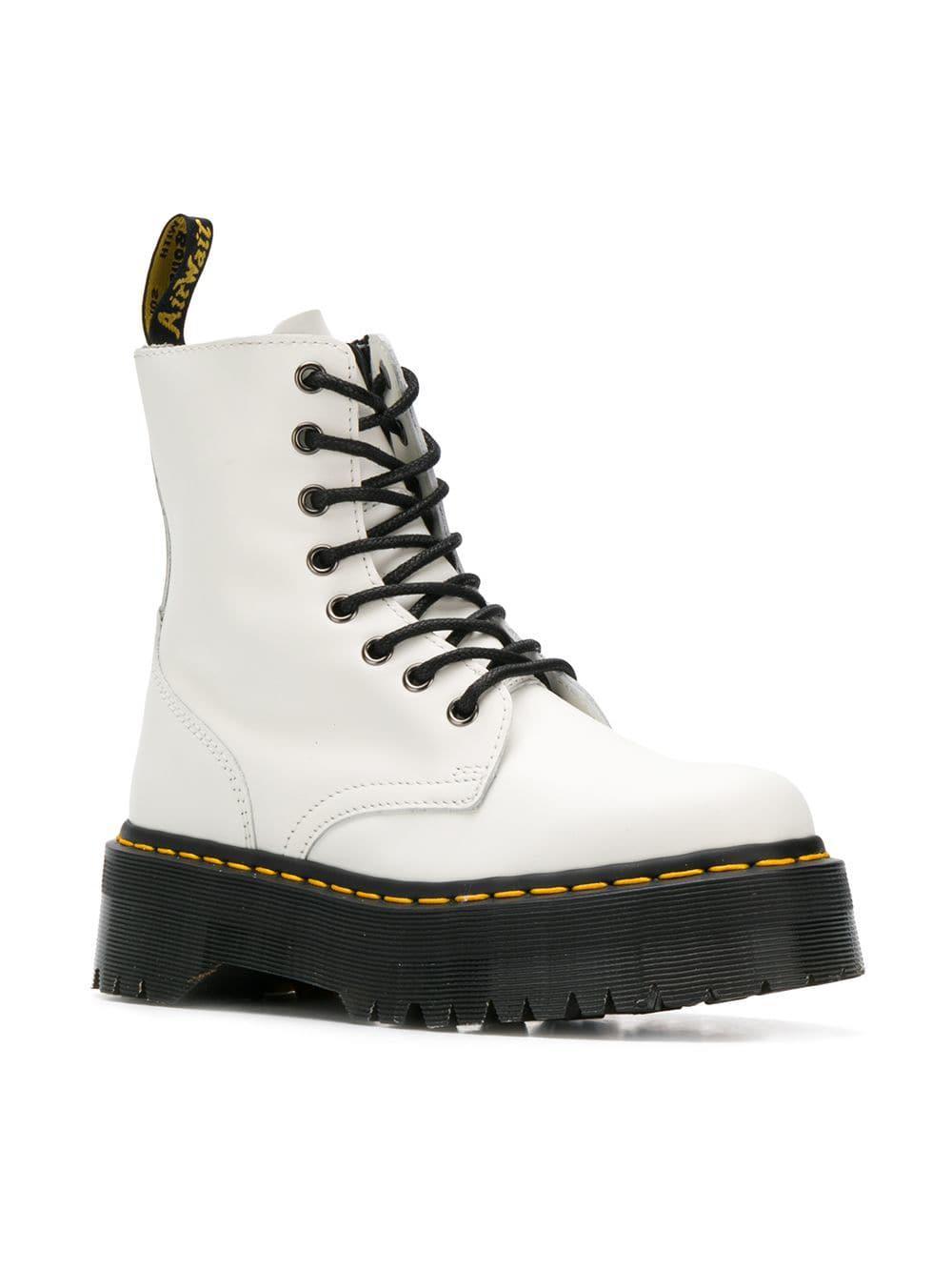 8b4d762a1b02 Lyst - Dr. Martens Jadon Boots in White