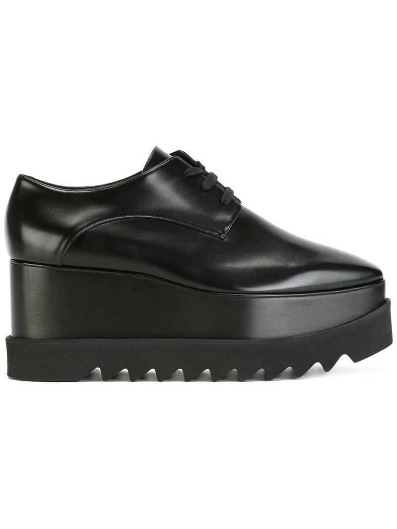 f0b43c8b460 Lyst - Stella McCartney Platform Elyse Shoes in Black - Save 46%