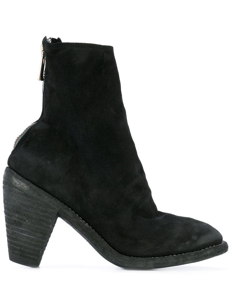 slouchy ankle boots - Black Guidi 9DXDAOjR
