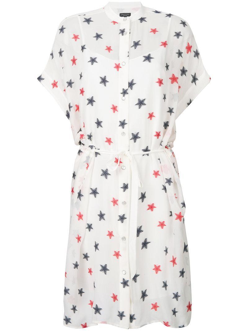 Rag & Bone star embroidered shirt dress Cheap Sale Discounts D2nDT