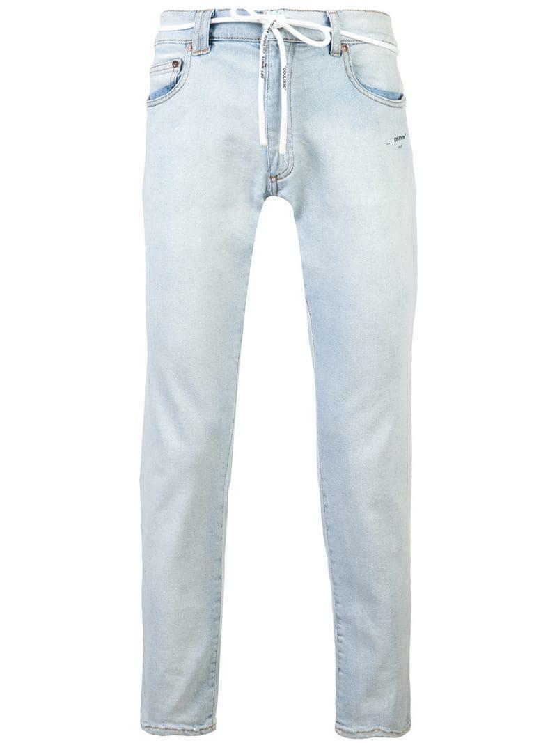 69f171243bd Lyst - Off-White c o Virgil Abloh Slim-fit Jeans in Blue for Men
