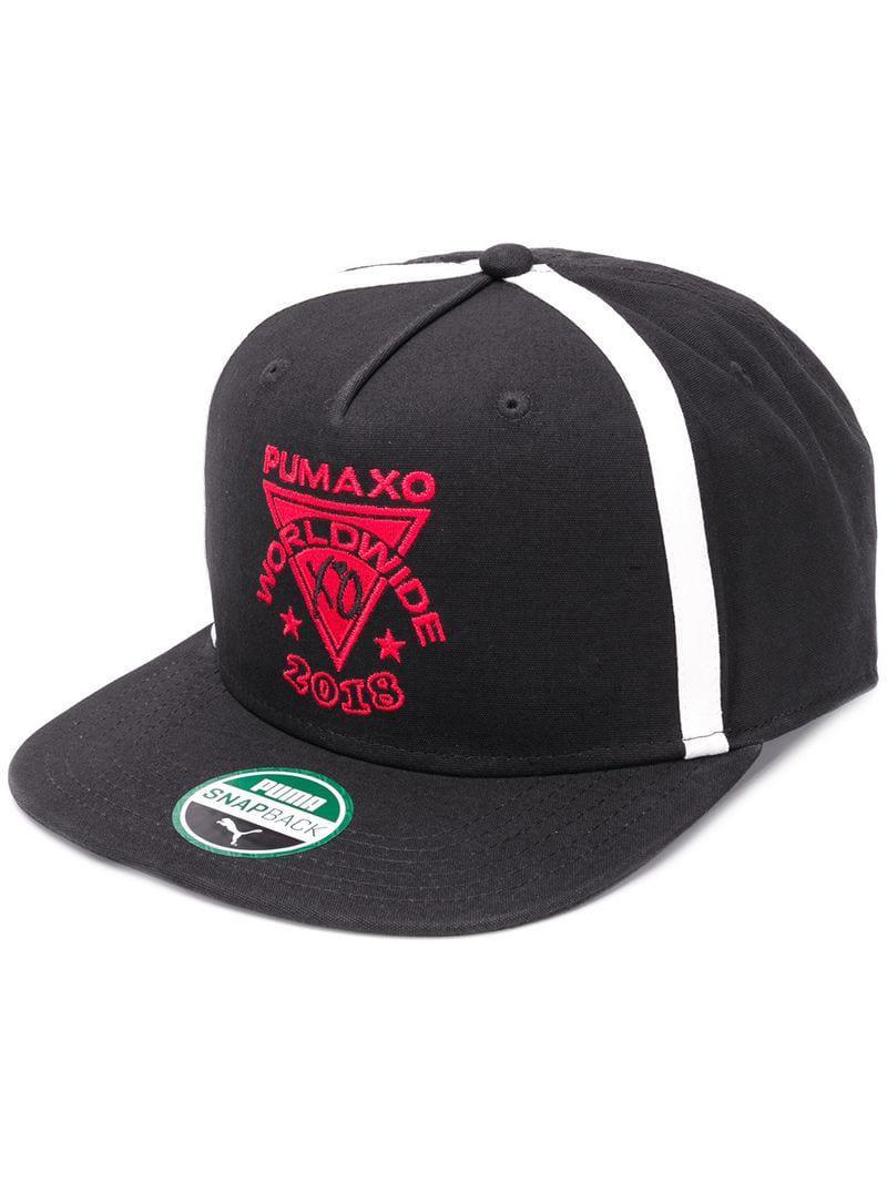 Puma + Xo Logo Hat in Black - Lyst 1cf5b05ee52a