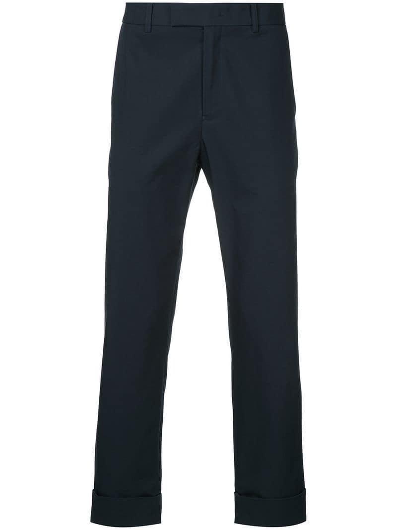 f50007f5ed8cf Lyst - Pantalon droit à ourlet retroussé Calvin Klein pour homme en ...