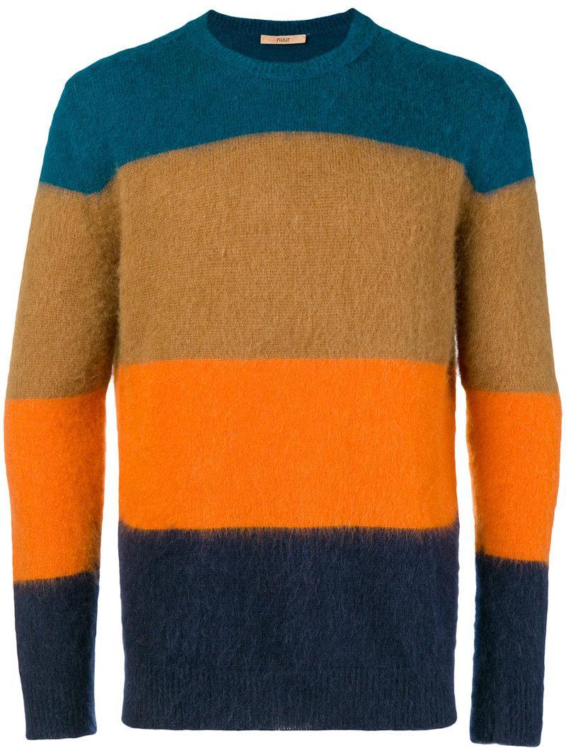 Men's Collina Knitted Jumper Blue Roberto Striped xZA1SqSw