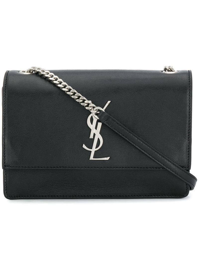 Saint Laurent Kate Monogram Crossbody Bag in Black - Lyst 04cd6527de