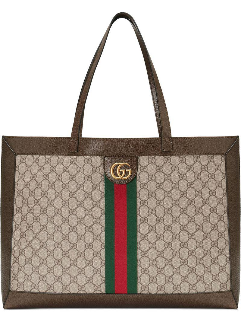 20a18f0a70dd Gucci Ophidia Gg Tote in Brown for Men - Lyst