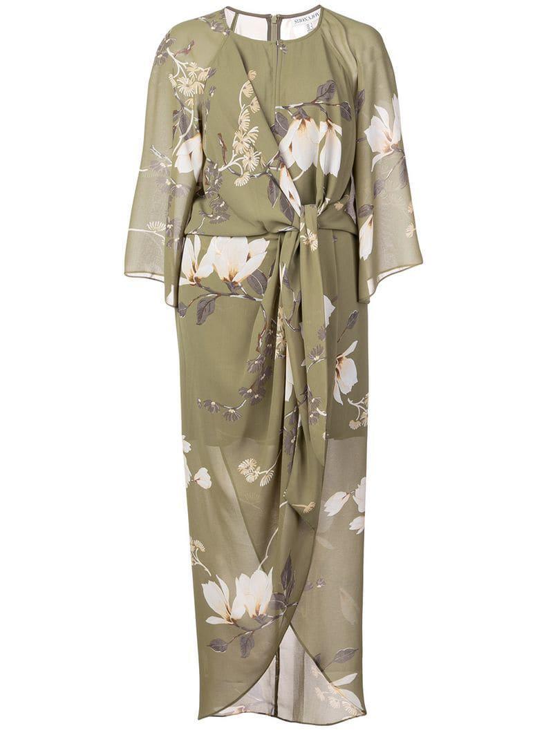 9b8a1924640b Shona Joy Floral Printed Dress in Green - Lyst