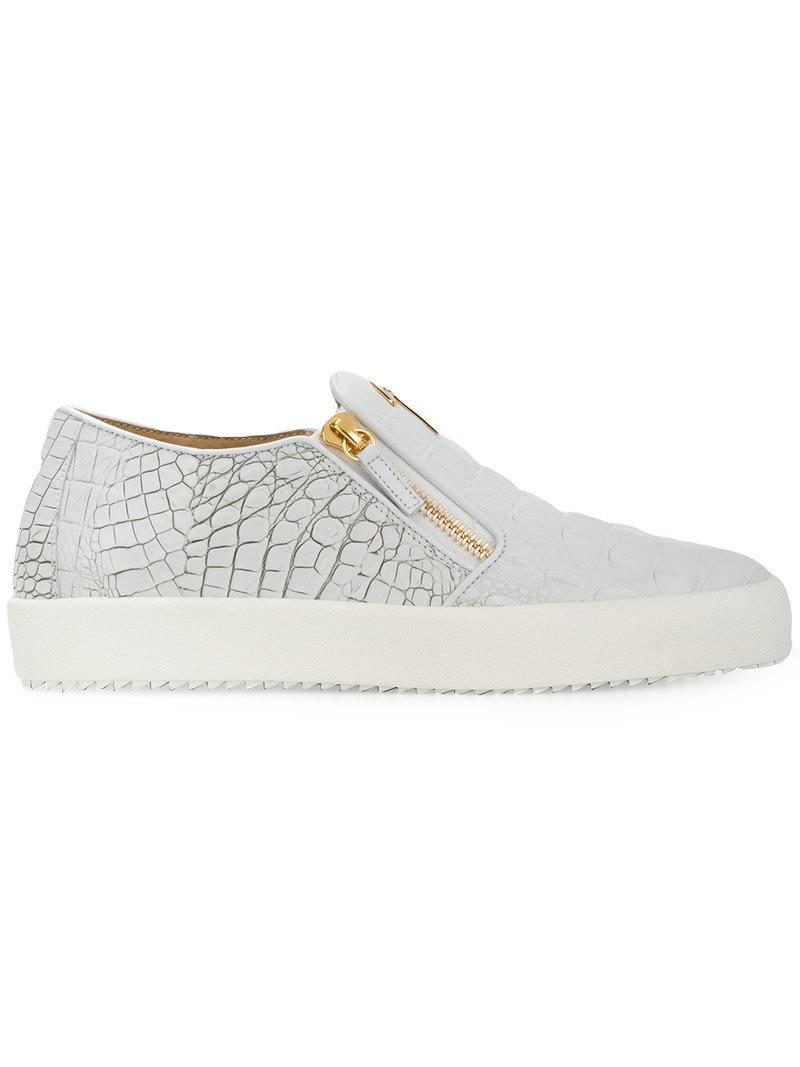 Giuseppe ZanottiEve crocodile embossed sneakers