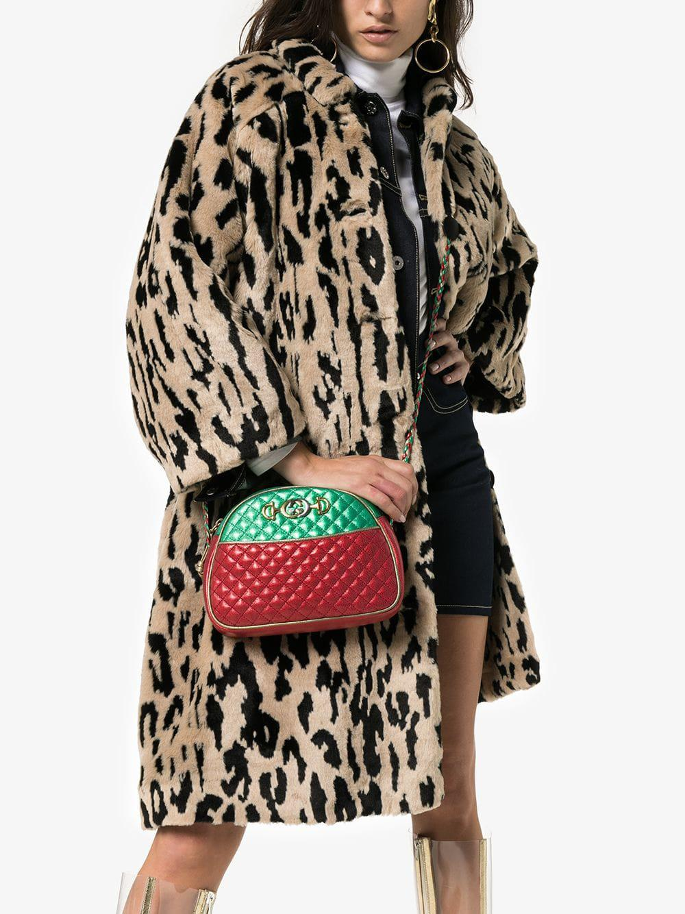d18bad73b390 Gucci - Red And Green Trapuntata Quilted Metallic Leather Cross Body Bag -  Lyst. View fullscreen