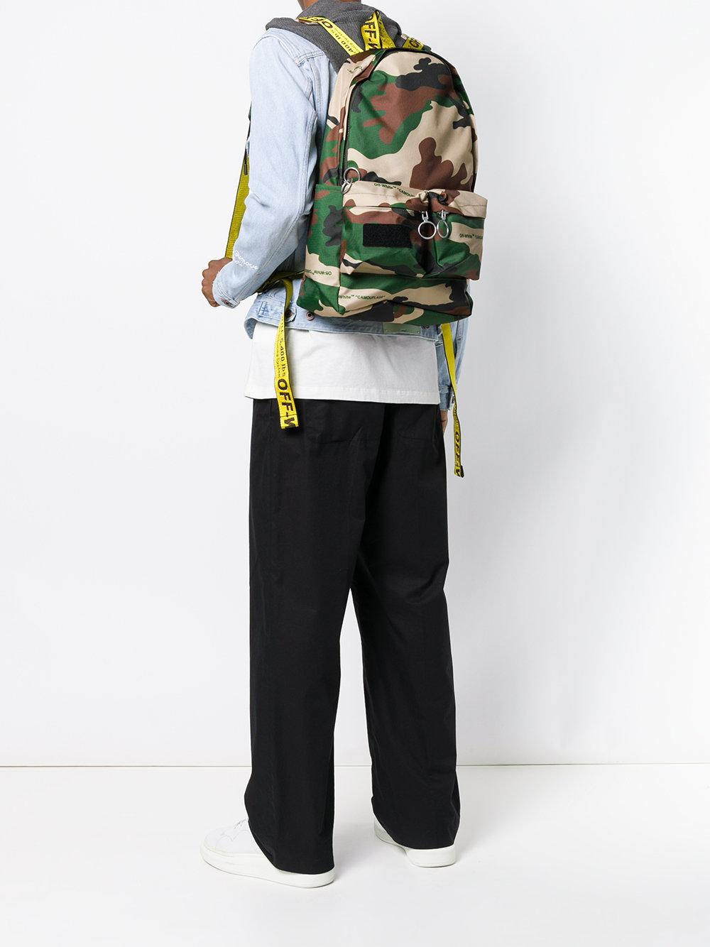 Lyst - Off-White C/O Virgil Abloh Camouflage Backpack in Green for Men