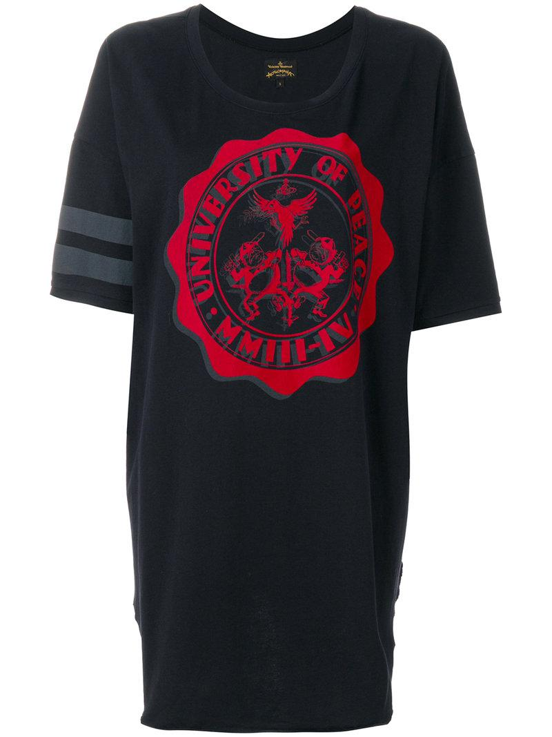 150bbe49b Vivienne Westwood Anglomania Oversized Printed T-shirt in Black - Lyst