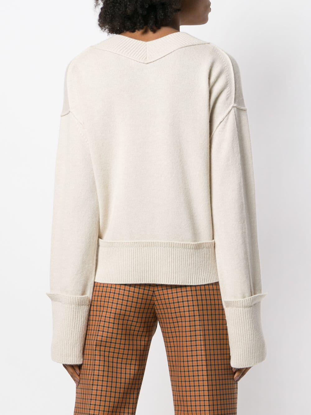 15a6fe2b00360 Helmut Lang V-neck Sweater - Lyst