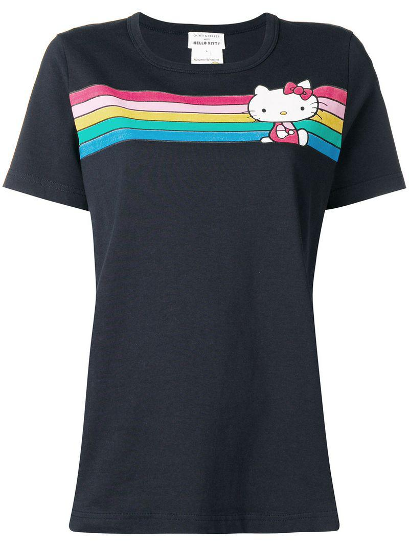 956bcd8d6 Chinti & Parker Hello Kitty Striped T-shirt in Blue - Save 50.0% - Lyst