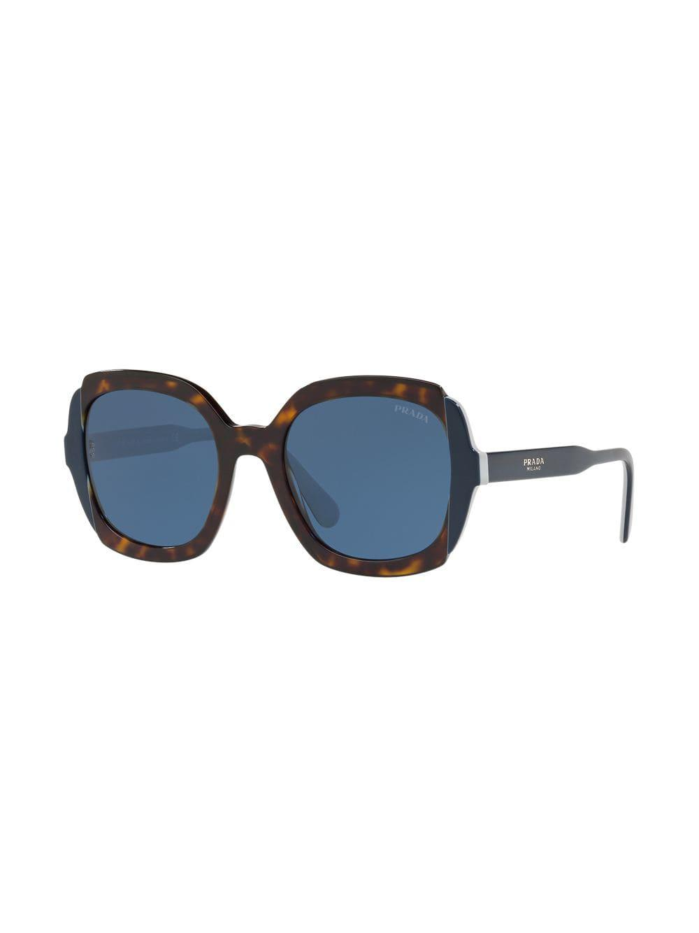 036b688f749c Prada - Brown Oversized Shaped Sunglasses - Lyst. View fullscreen